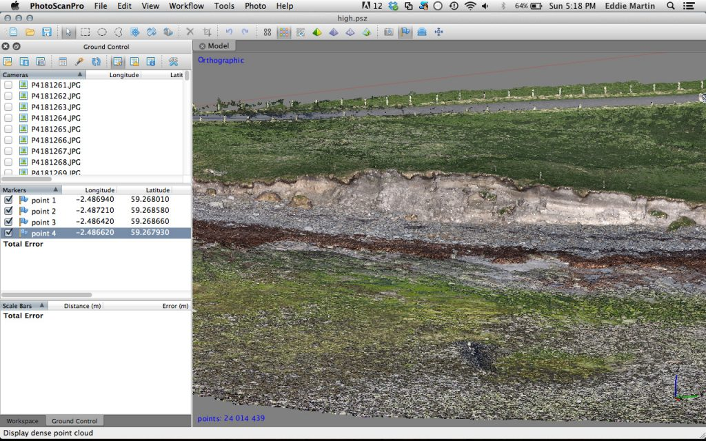 Screenshot of a 3D model of the settlement mound at Newark.