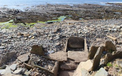 Preparations to move a burnt mound on Sanday and more…