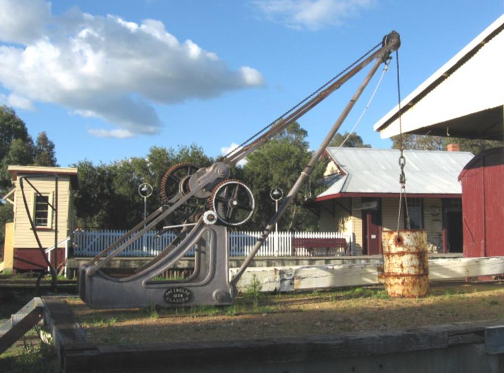 An A and J Inglis crane at the Bennett Brook Railway, Western Australia