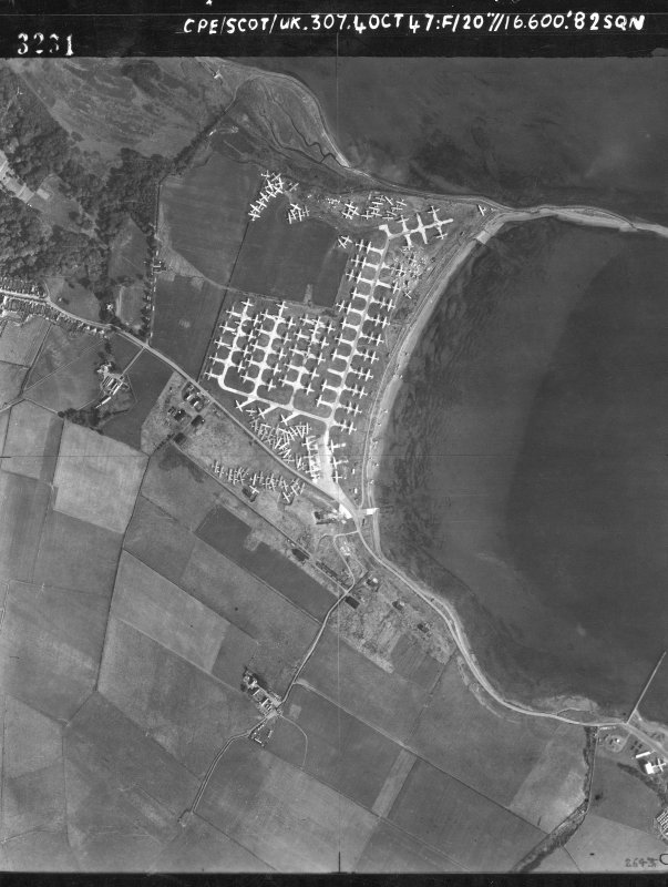 RAF National Survey (Air Photographs), 1944-1950 Vertical aerial photograph The Wig, Flying Boat Base. Copyright RCAHMS