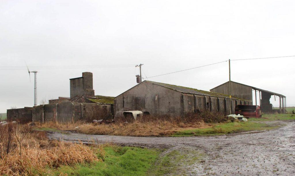 A semi-derelict building