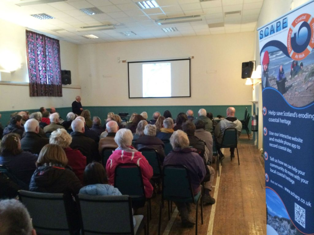 A full house at the James Milne Institute on Saturday listening to Tim talk about Findhorn's fishing history
