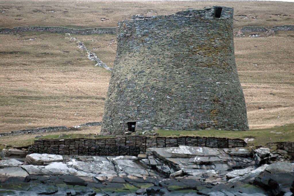 The broch of Mousa viewed from the sea. Photo Richard Pattison