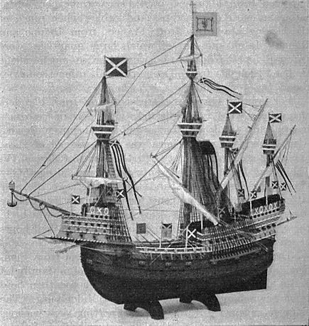 The Great Michael, the biggest ship in the world when she was launched in 1511.