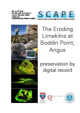 Eroding limekilns, Boddin Point, Angus