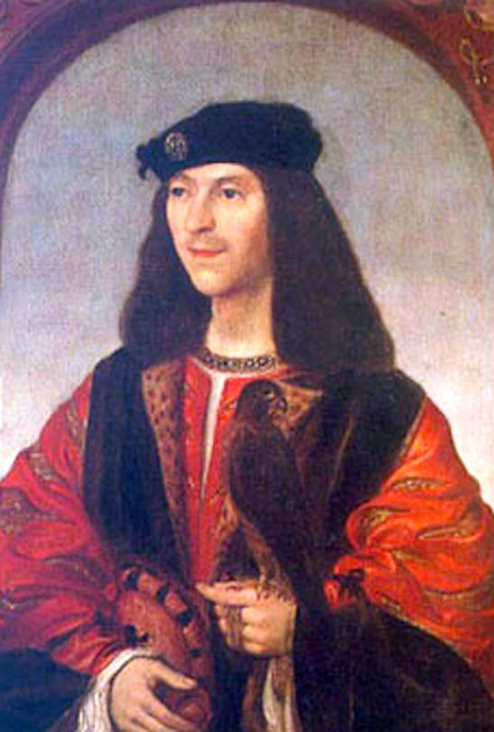 James IV of Scotland (1473-1513), Scotland's Renaissance King, who developed the nation's Navy.