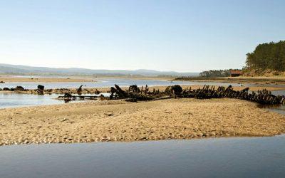 Findhorn Bay fishing boat graveyard