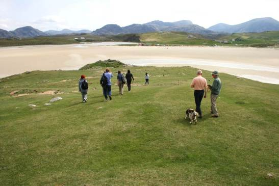 ShoreUPDATE site visit to Dun Borranais, Traigh Uig